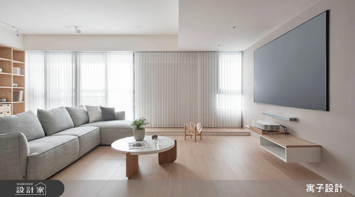 28坪新成屋(5年以下)_北歐風客廳案例圖片_寓子設計_寓子_悠悠之3