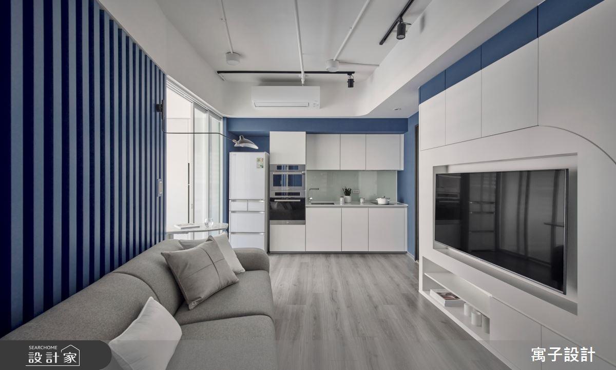 15坪新成屋(5年以下)_休閒多元客廳案例圖片_寓子設計_寓子_島嶼之2