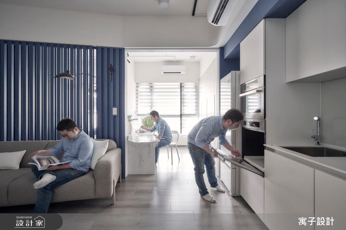 15坪新成屋(5年以下)_休閒多元客廳餐廳廚房案例圖片_寓子設計_寓子_島嶼之5