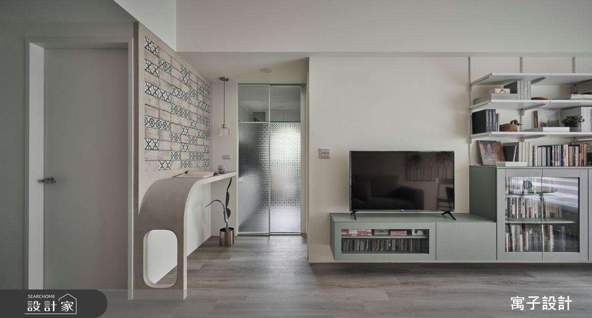 22坪新成屋(5年以下)_休閒風客廳案例圖片_寓子設計_寓子_拾參號之6