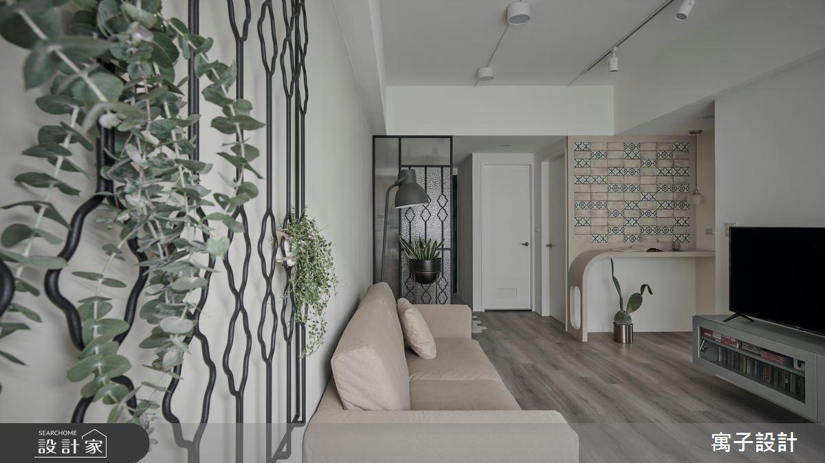 22坪新成屋(5年以下)_休閒風客廳案例圖片_寓子設計_寓子_拾參號之4