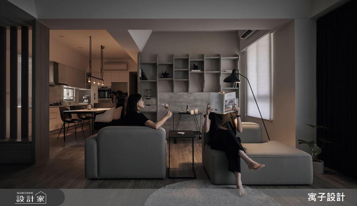 40坪老屋(16~30年)_現代風客廳案例圖片_寓子設計_寓子_醞釀之4