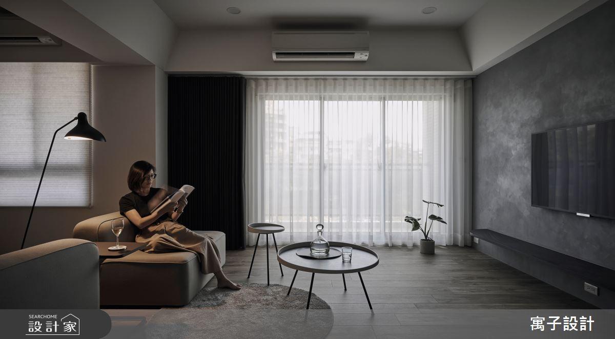 40坪老屋(16~30年)_現代風客廳案例圖片_寓子設計_寓子_醞釀之3