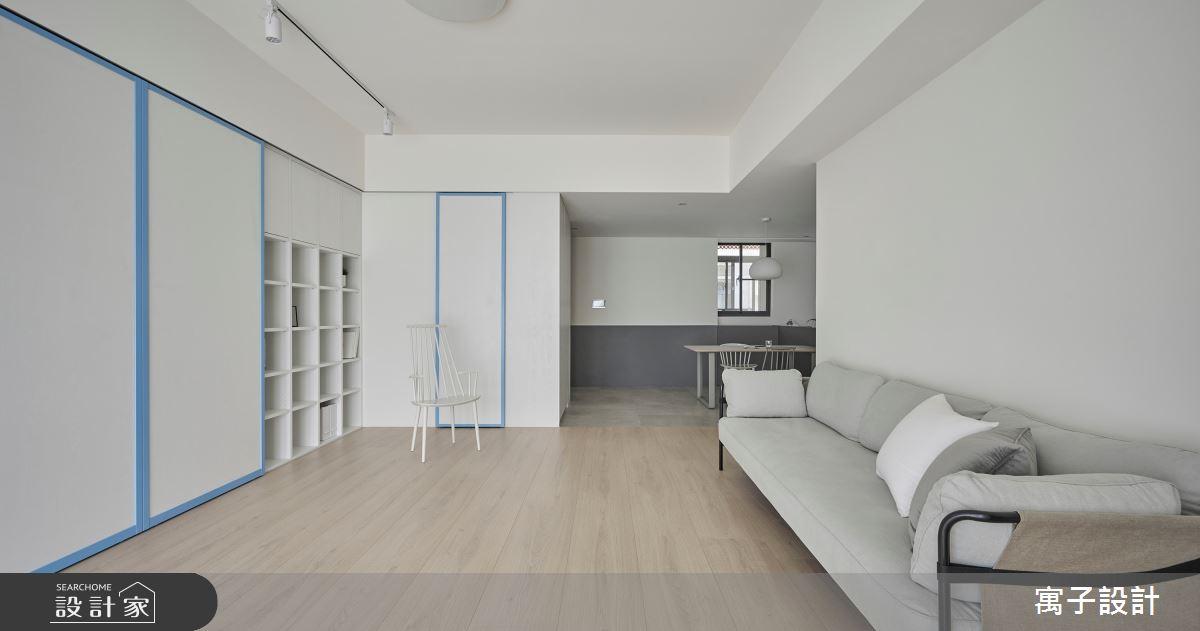 35坪老屋(16~30年)_北歐風客廳案例圖片_寓子設計_寓子_Logam Life之1