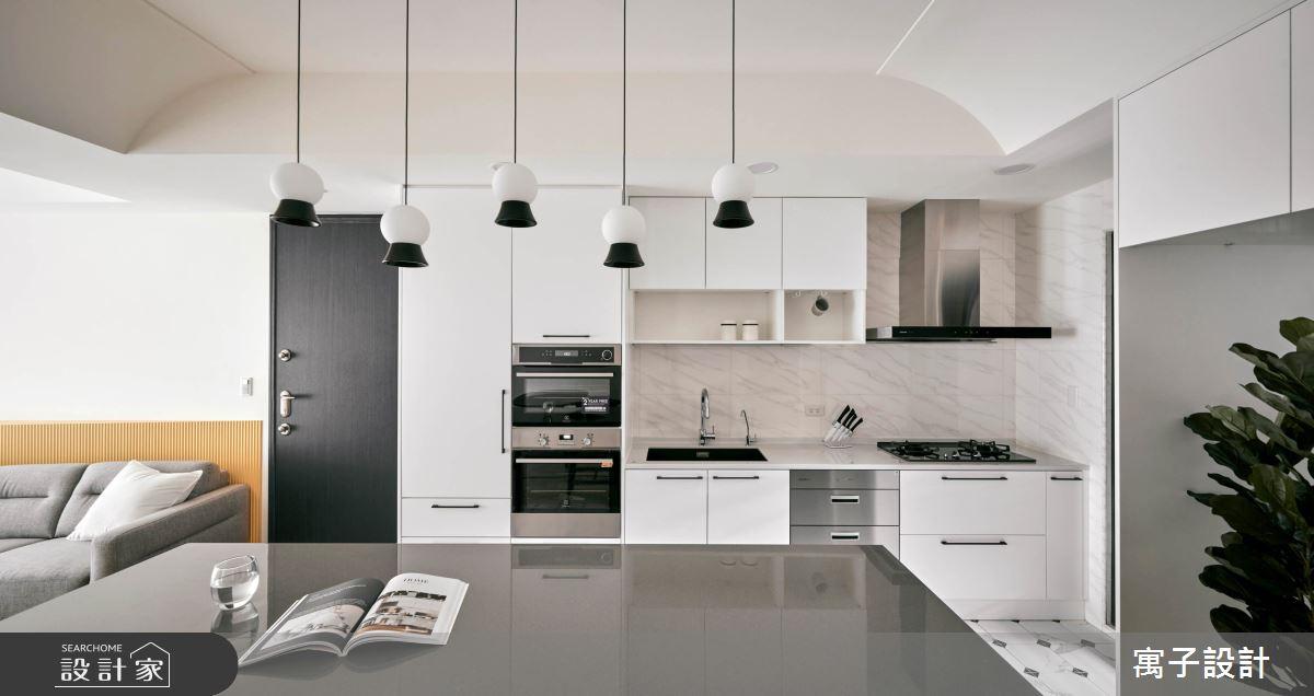 25坪新成屋(5年以下)_北歐風廚房案例圖片_寓子設計_寓子_85㎡之4