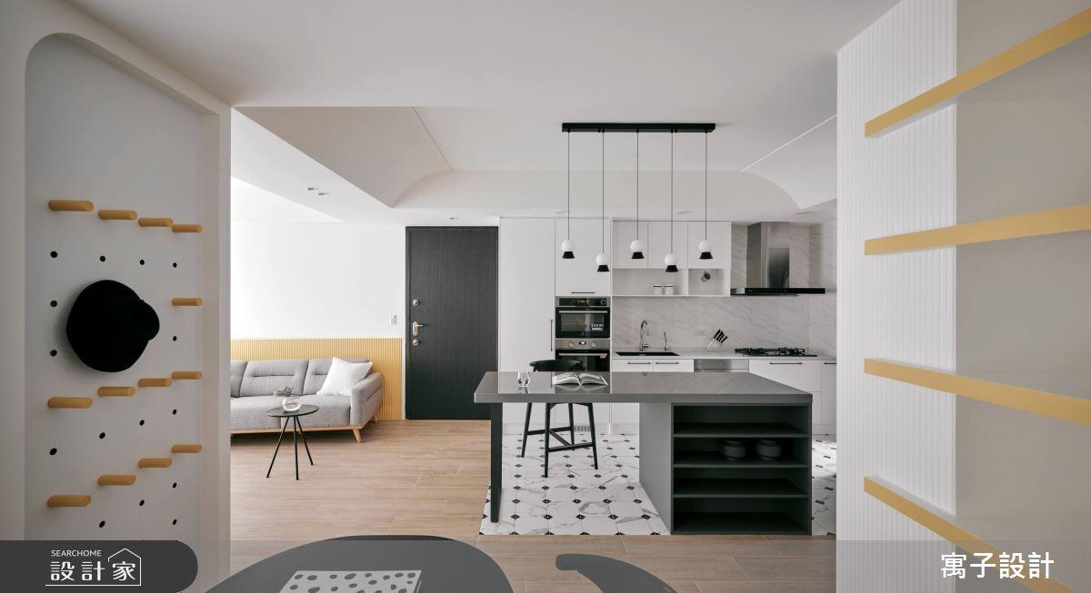 25坪新成屋(5年以下)_北歐風廚房案例圖片_寓子設計_寓子_85㎡之3