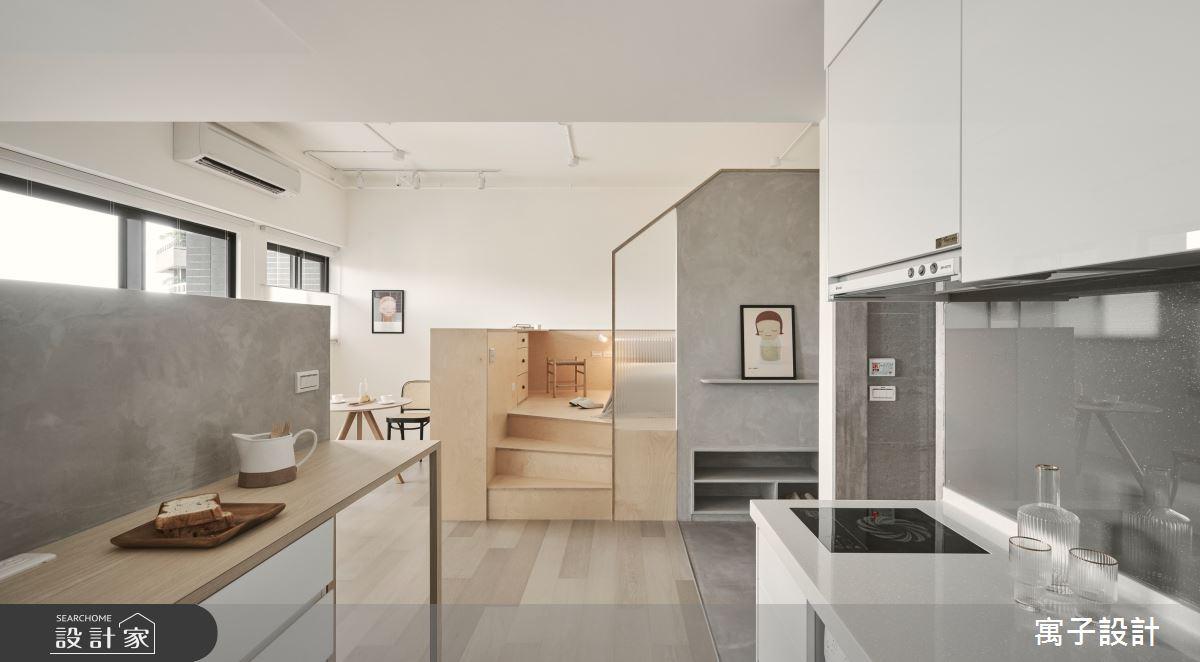18坪新成屋(5年以下)_現代風廚房案例圖片_寓子設計_寓子_mumi之2