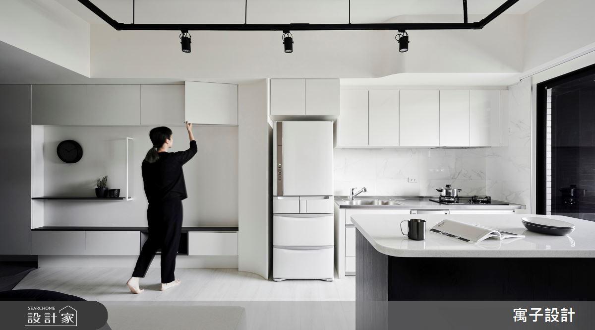 11坪新成屋(5年以下)_簡約風廚房中島案例圖片_寓子設計_寓子_告白之6