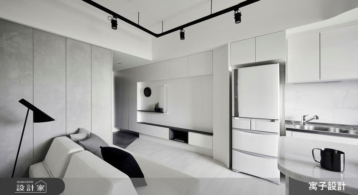 11坪新成屋(5年以下)_簡約風廚房案例圖片_寓子設計_寓子_告白之3