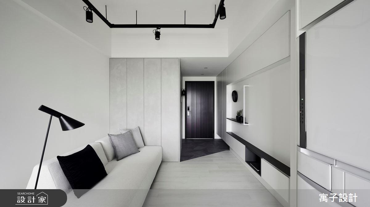 11坪新成屋(5年以下)_簡約風客廳案例圖片_寓子設計_寓子_告白之4