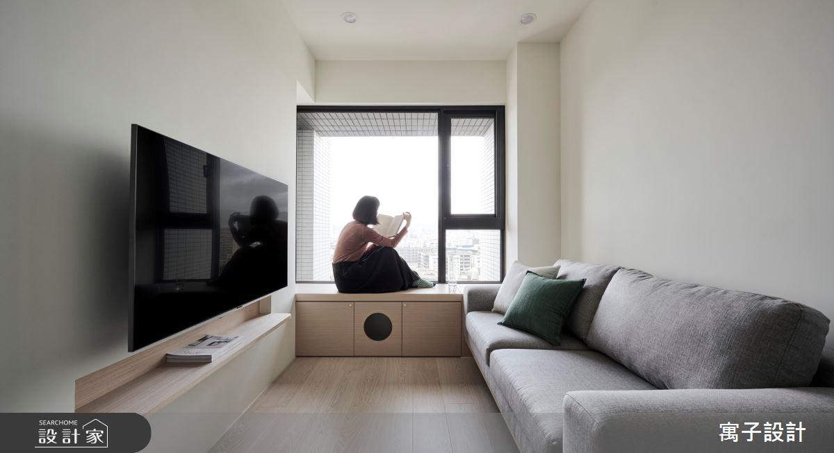 18坪新成屋(5年以下)_北歐風客廳案例圖片_寓子設計_寓子_山旅之2