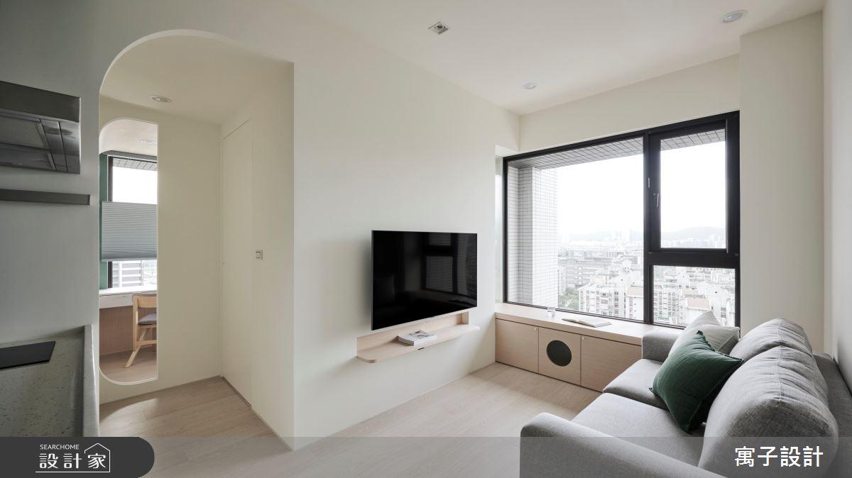 18坪新成屋(5年以下)_北歐風客廳臥榻案例圖片_寓子設計_寓子_山旅之3