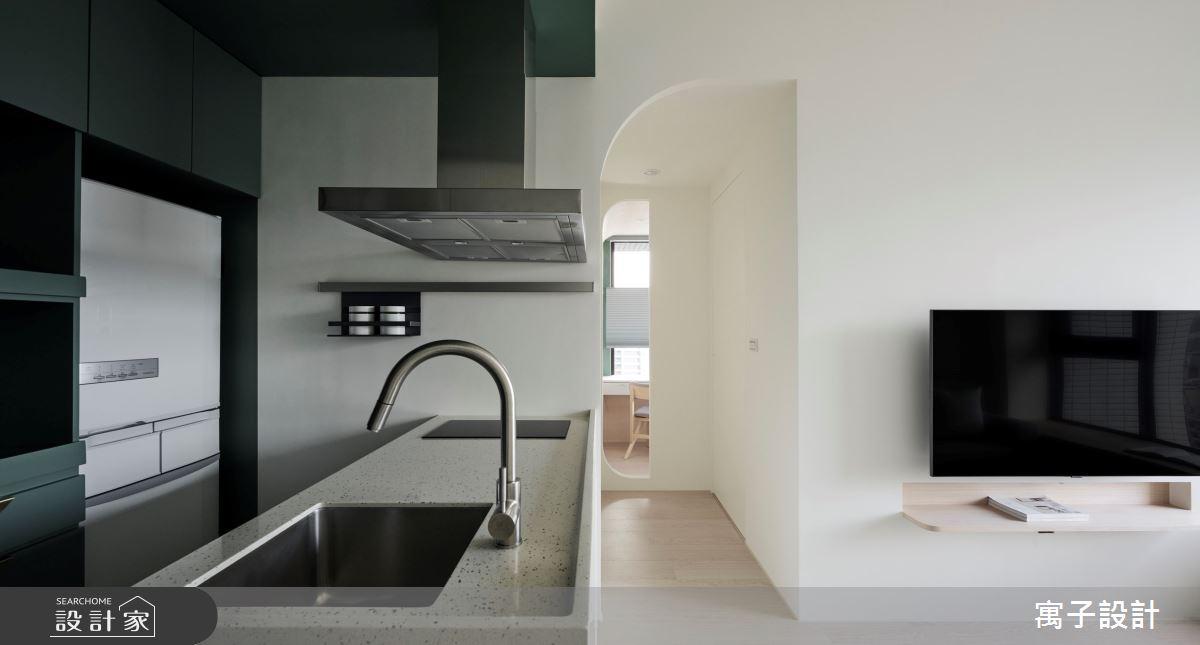 18坪新成屋(5年以下)_北歐風廚房中島案例圖片_寓子設計_寓子_山旅之5