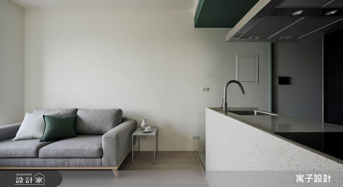 18坪新成屋(5年以下)_北歐風客廳案例圖片_寓子設計_寓子_山旅之1