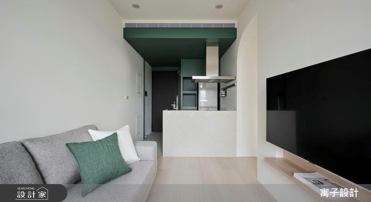 18坪新成屋(5年以下)_北歐風客廳案例圖片_寓子設計_寓子_山旅之4