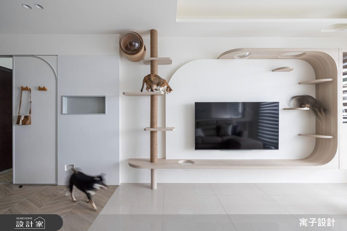 40坪新成屋(5年以下)_北歐風客廳案例圖片_寓子設計_寓子_躲貓貓之4