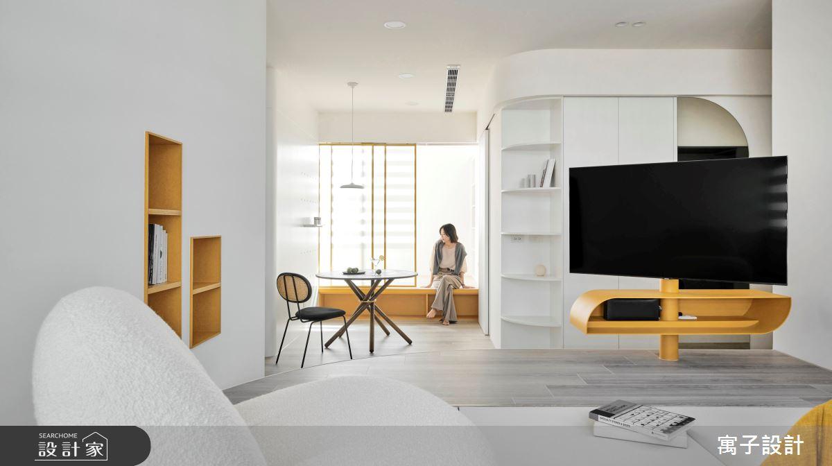 25坪老屋(16~30年)_北歐風客廳案例圖片_寓子設計_寓子_曦之2
