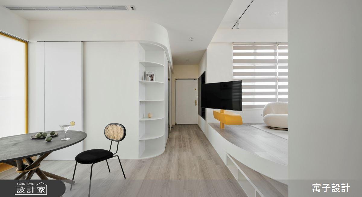25坪老屋(16~30年)_北歐風客廳案例圖片_寓子設計_寓子_曦之4