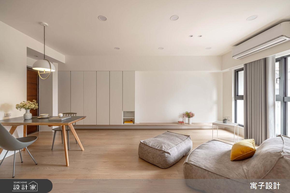 30坪新成屋(5年以下)_北歐風客廳餐廳案例圖片_寓子設計_寓子_花心之2