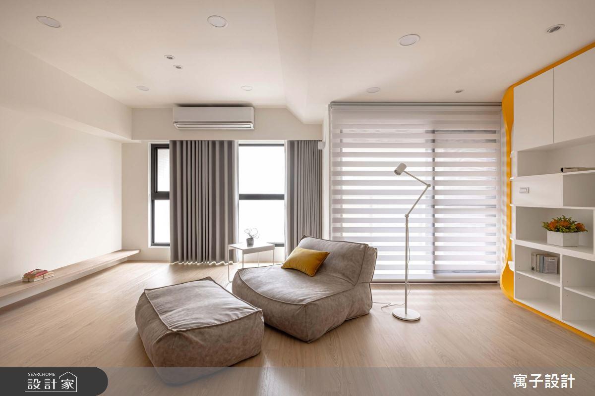 30坪新成屋(5年以下)_北歐風客廳案例圖片_寓子設計_寓子_花心之3