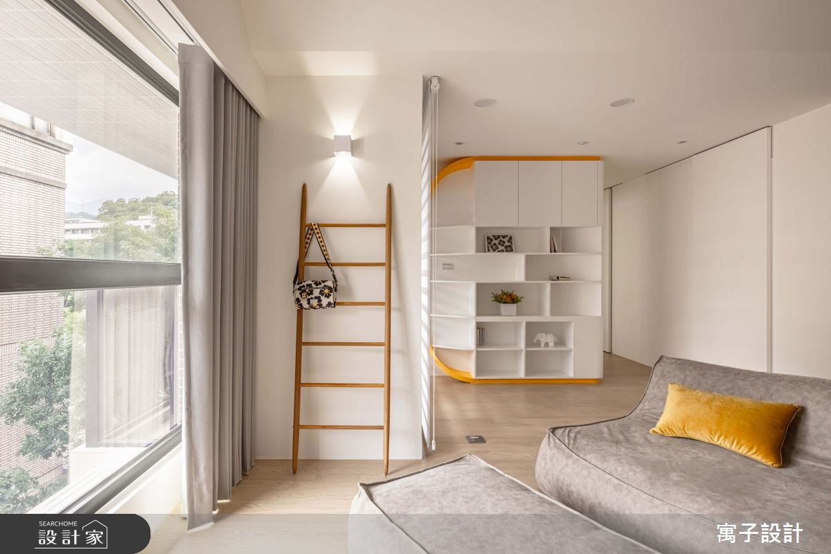 30坪新成屋(5年以下)_北歐風客廳案例圖片_寓子設計_寓子_花心之4