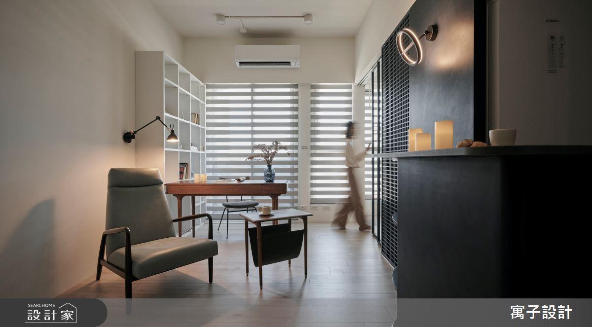 16坪新成屋(5年以下)_北歐風客廳書房案例圖片_寓子設計_寓子_漂流銀河之1