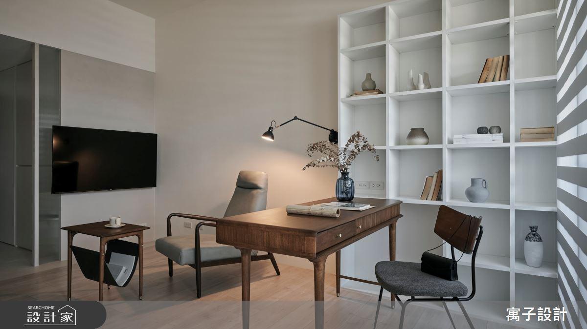 16坪新成屋(5年以下)_北歐風客廳書房案例圖片_寓子設計_寓子_漂流銀河之6