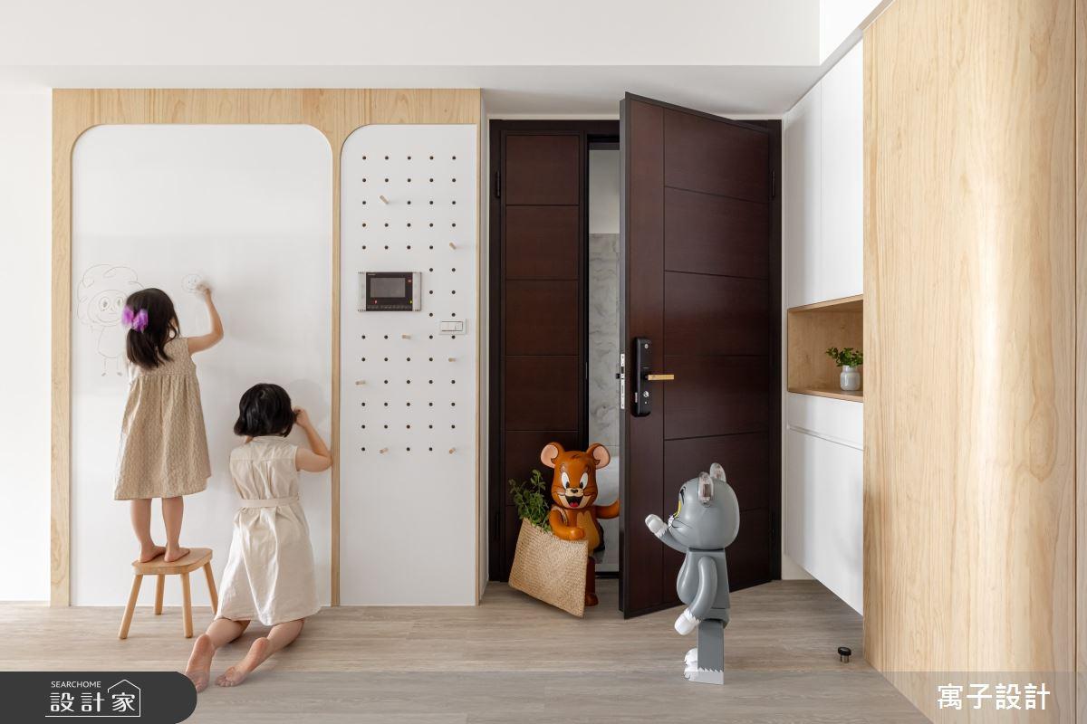 30坪新成屋(5年以下)_北歐風案例圖片_寓子設計_寓子_Girls之1