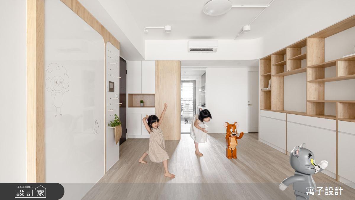 30坪新成屋(5年以下)_北歐風案例圖片_寓子設計_寓子_Girls之3