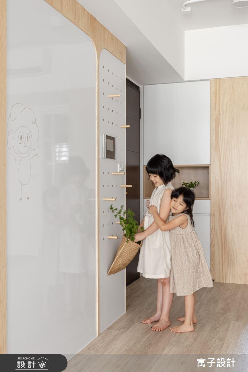 30坪新成屋(5年以下)_北歐風案例圖片_寓子設計_寓子_Girls之2