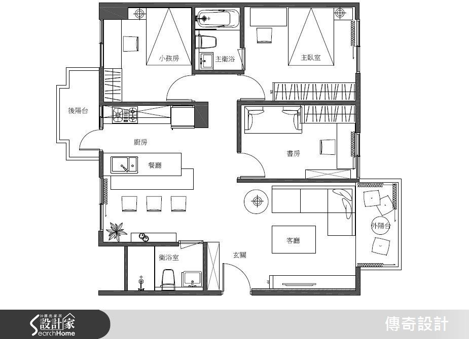28坪中古屋(5~15年)_現代風案例圖片_傳奇室內裝修設計有限公司_傳奇_04之6