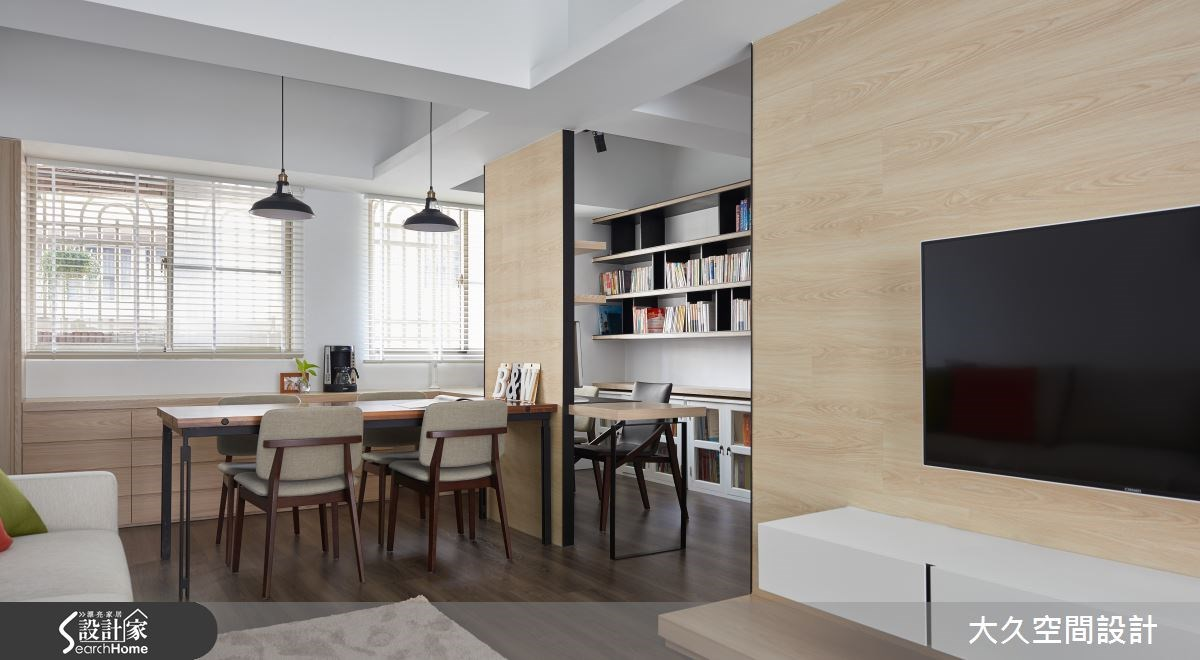 中古屋(5~15年)_簡約風餐廳書房案例圖片_大久空間設計有限公司_大久_10之2