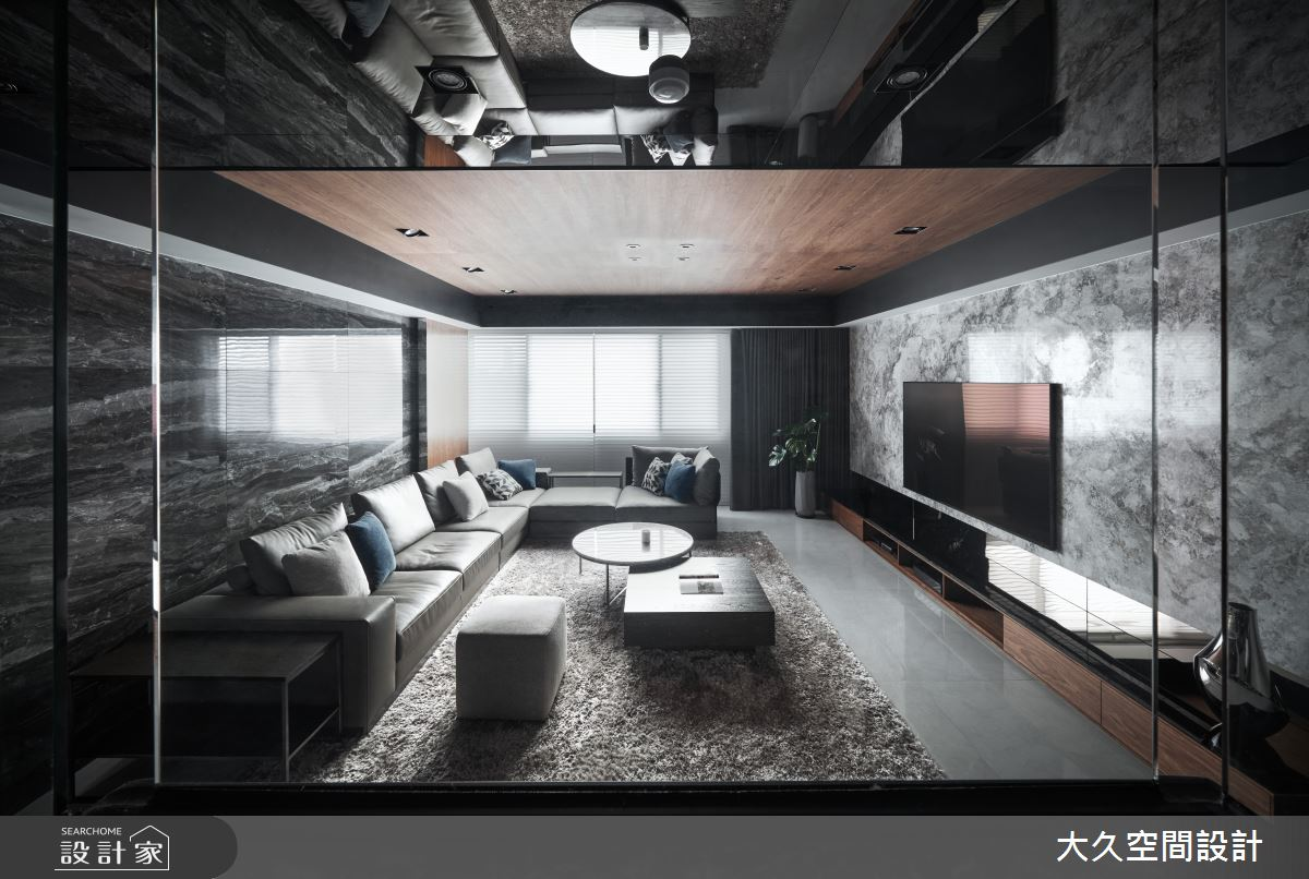 66坪中古屋(5~15年)_現代風客廳案例圖片_大久空間設計有限公司_大久_24之5