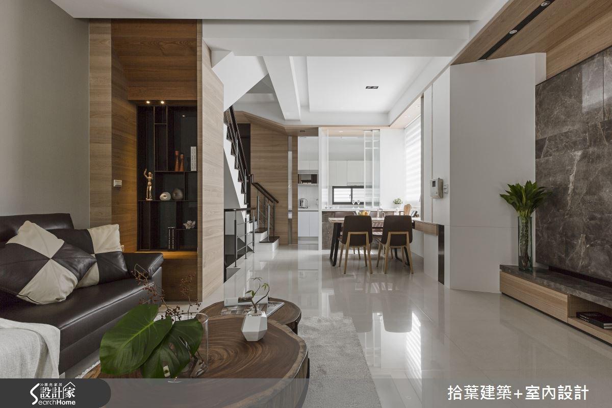 40坪新成屋(5年以下)_現代風客廳餐廳案例圖片_拾葉建築+室內設計_拾葉_07之3