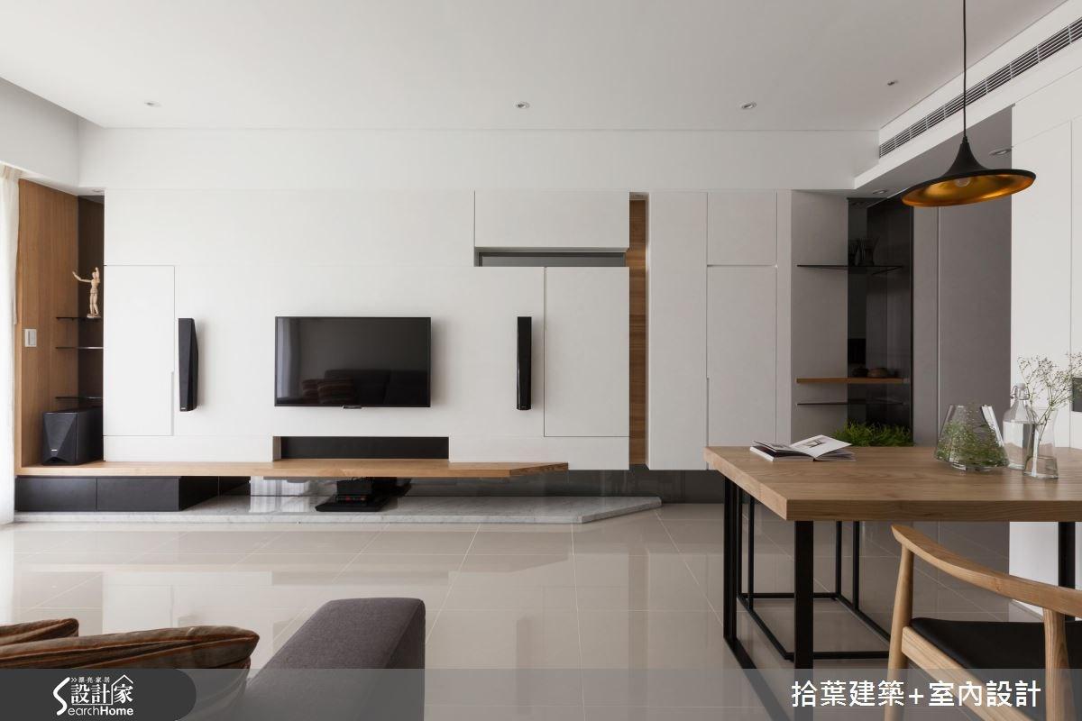 25坪新成屋(5年以下)_現代風客廳案例圖片_拾葉建築+室內設計_拾葉_09之3