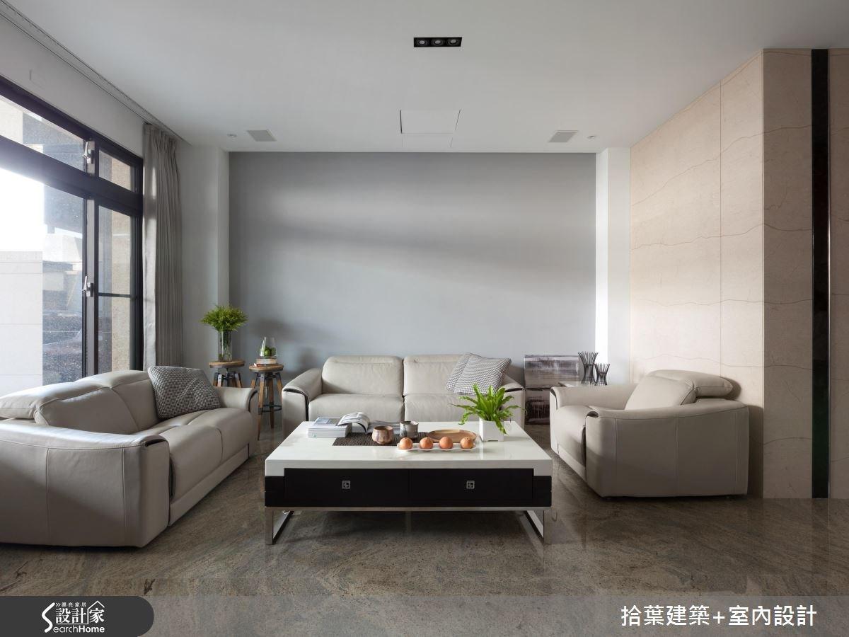 100坪新成屋(5年以下)_現代風客廳案例圖片_拾葉建築+室內設計_拾葉_11之1