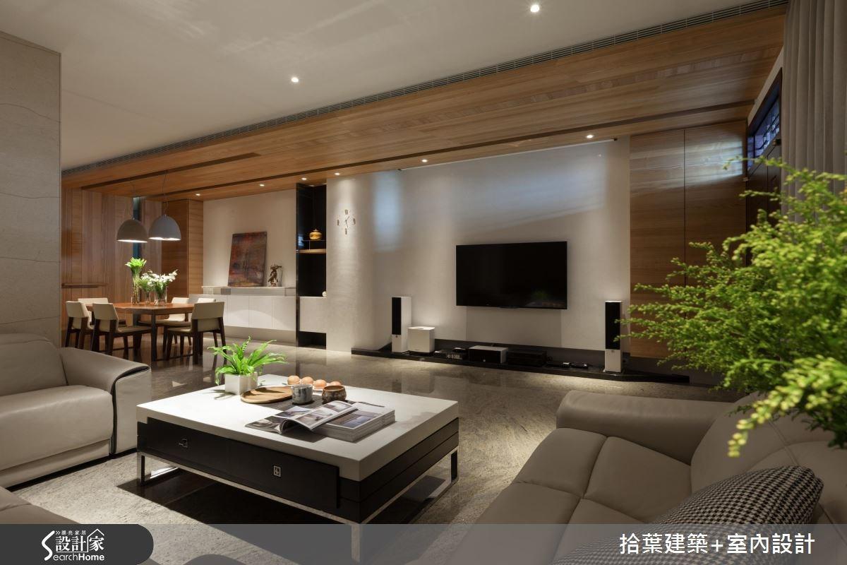 100坪新成屋(5年以下)_現代風客廳餐廳案例圖片_拾葉建築+室內設計_拾葉_11之3