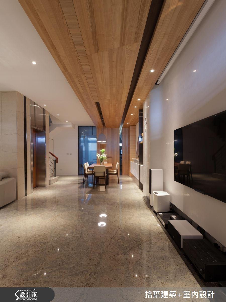 100坪新成屋(5年以下)_現代風客廳餐廳案例圖片_拾葉建築+室內設計_拾葉_11之5