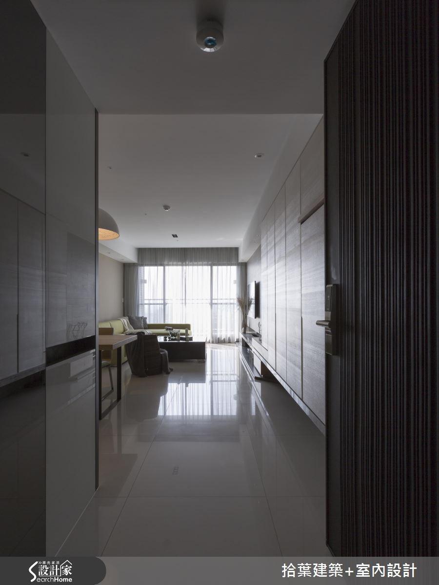 25坪新成屋(5年以下)_現代風走廊案例圖片_拾葉建築+室內設計_拾葉_12之1