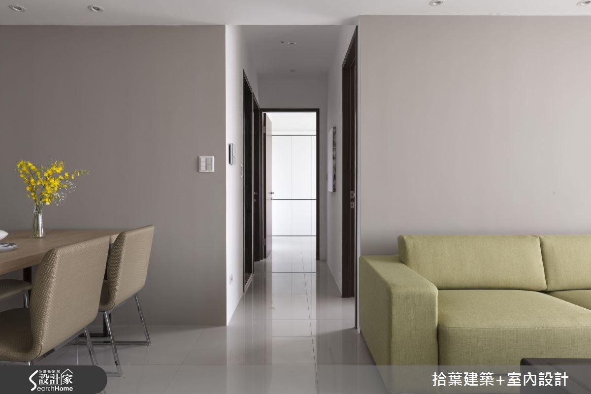 25坪新成屋(5年以下)_現代風走廊案例圖片_拾葉建築+室內設計_拾葉_12之5