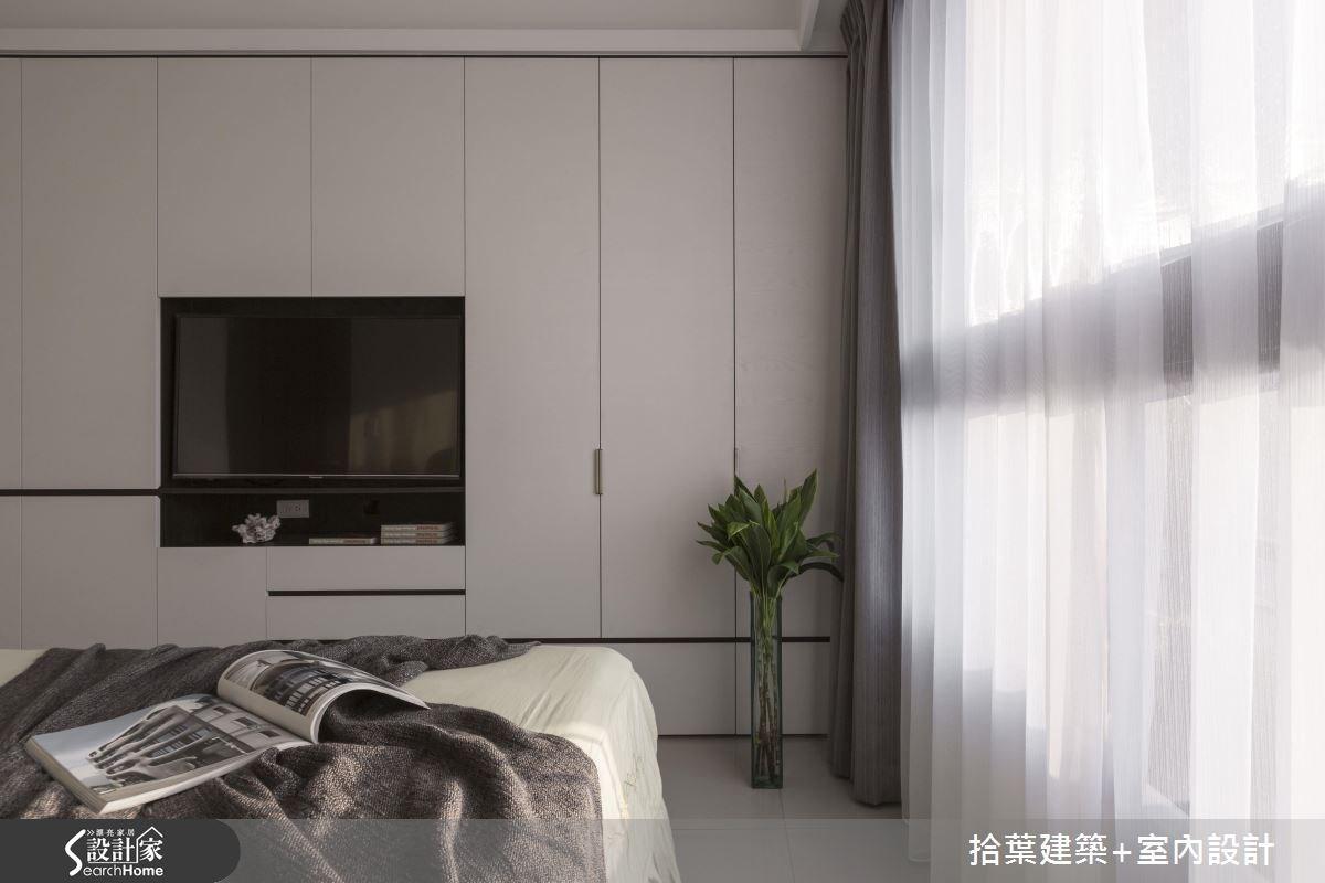 25坪新成屋(5年以下)_現代風臥室案例圖片_拾葉建築+室內設計_拾葉_12之15