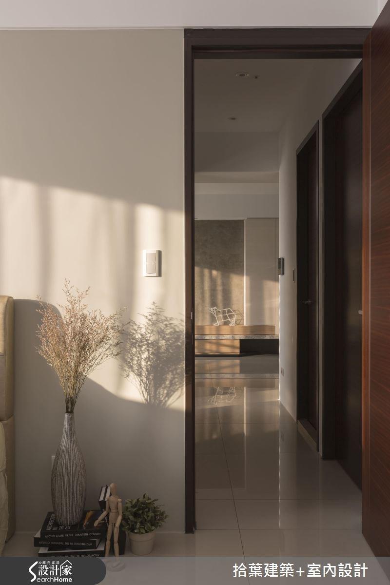 25坪新成屋(5年以下)_現代風走廊案例圖片_拾葉建築+室內設計_拾葉_12之16