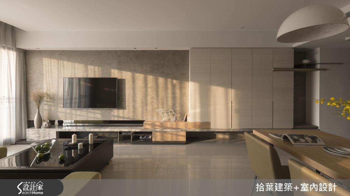 25坪新成屋(5年以下)_現代風客廳案例圖片_拾葉建築+室內設計_拾葉_12之9