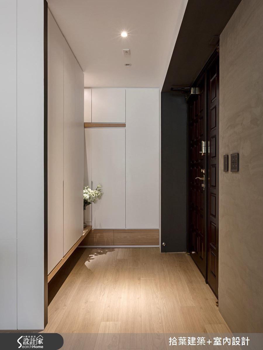 35坪新成屋(5年以下)_現代風玄關走廊案例圖片_拾葉建築+室內設計_拾葉_17之1