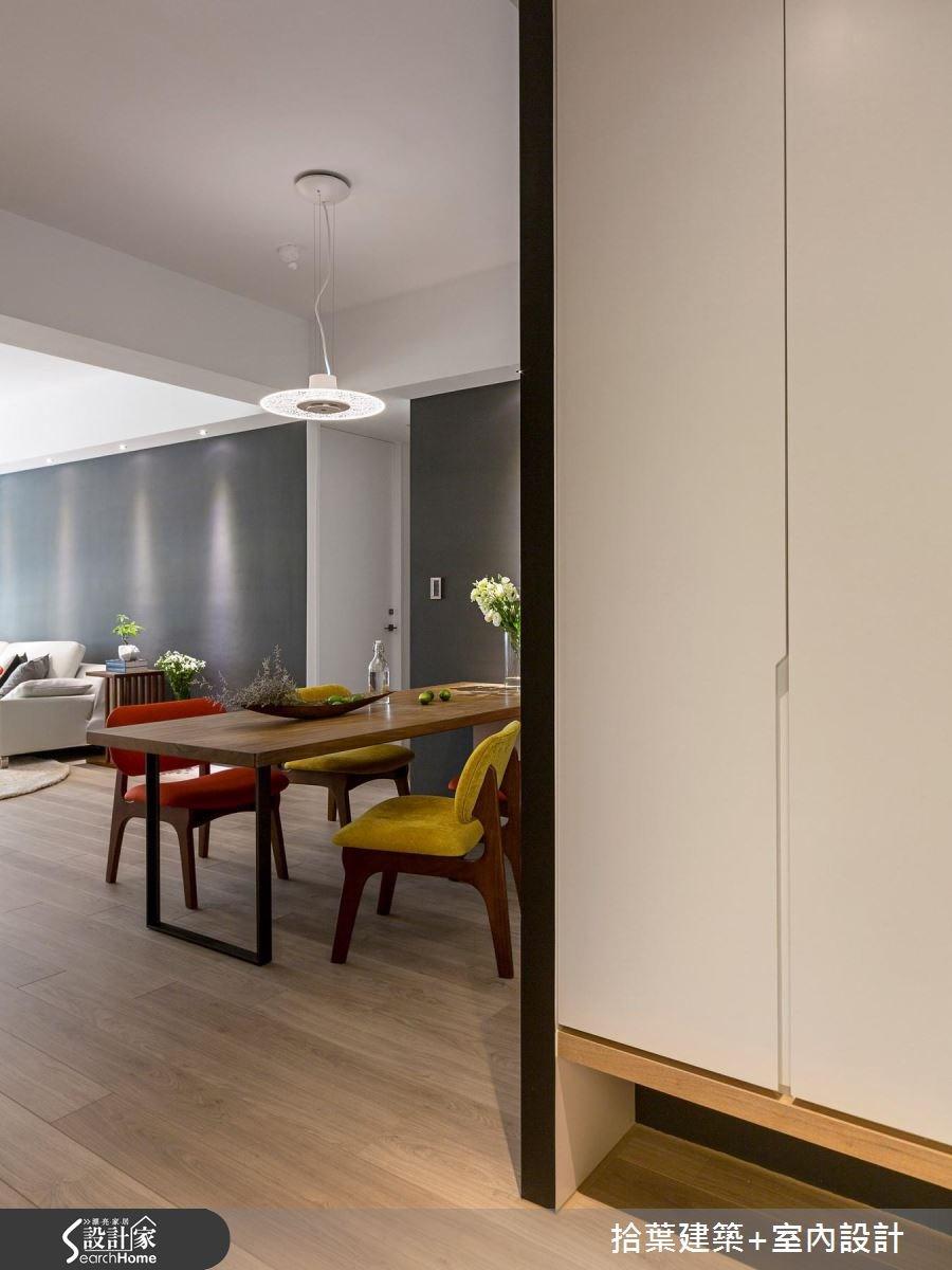 35坪新成屋(5年以下)_現代風餐廳走廊案例圖片_拾葉建築+室內設計_拾葉_17之2