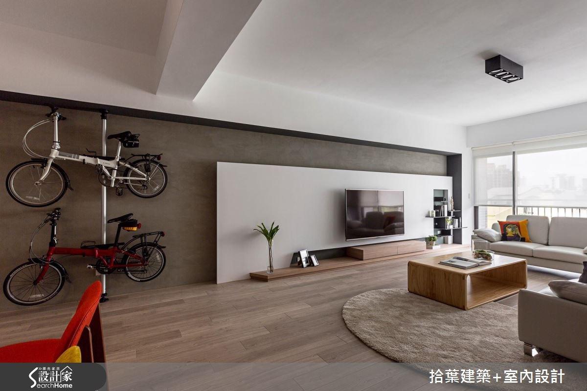 35坪新成屋(5年以下)_現代風客廳案例圖片_拾葉建築+室內設計_拾葉_17之4