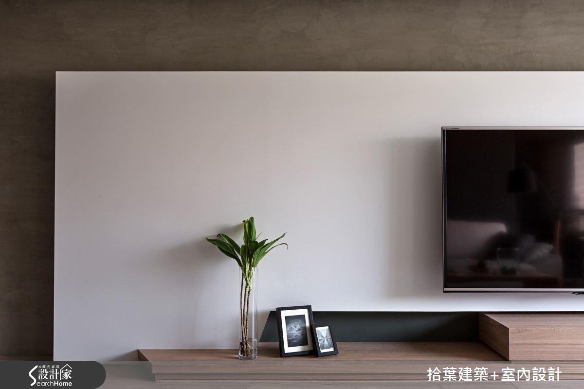 35坪新成屋(5年以下)_現代風客廳案例圖片_拾葉建築+室內設計_拾葉_17之5