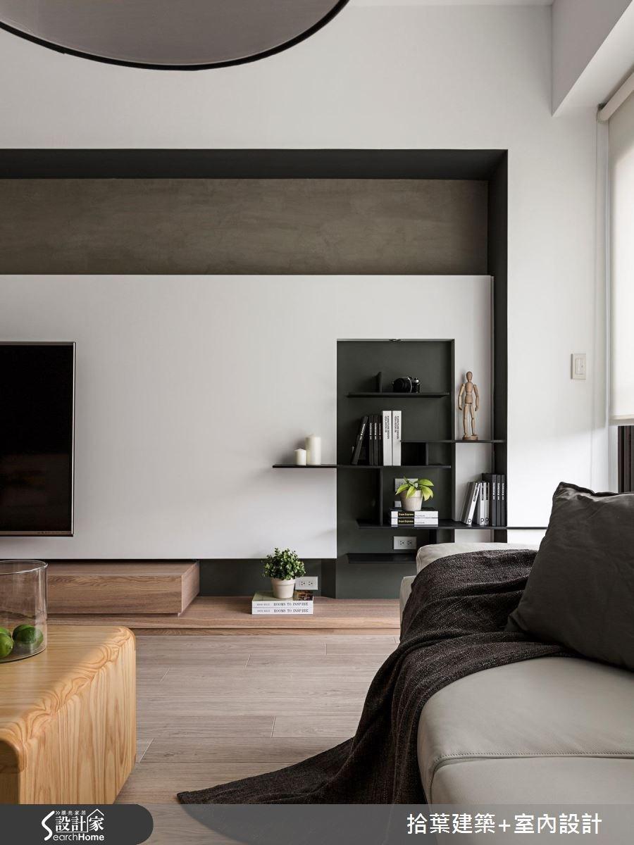 35坪新成屋(5年以下)_現代風客廳案例圖片_拾葉建築+室內設計_拾葉_17之6