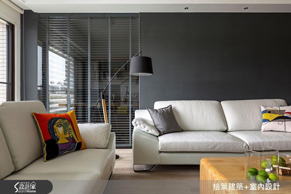 35坪新成屋(5年以下)_現代風客廳案例圖片_拾葉建築+室內設計_拾葉_17之7