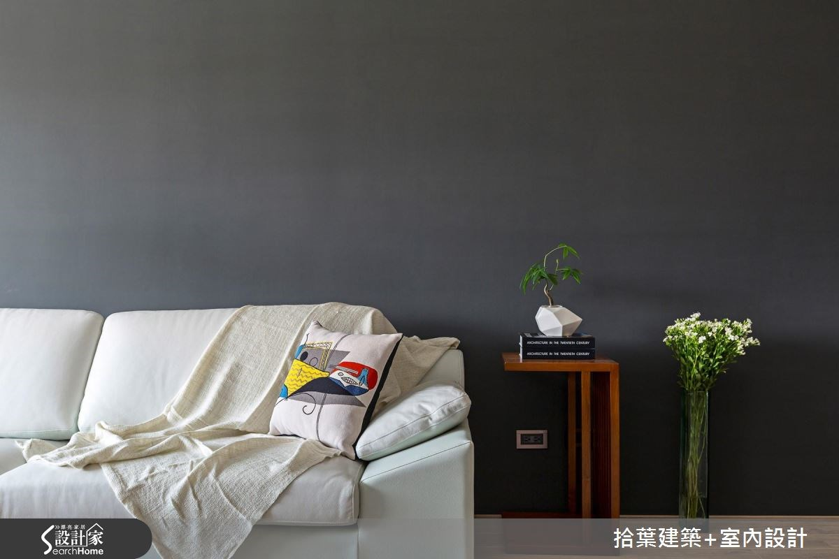 35坪新成屋(5年以下)_現代風客廳案例圖片_拾葉建築+室內設計_拾葉_17之8